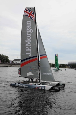 Sample of extreme sailing cardiff bay Aug 2014