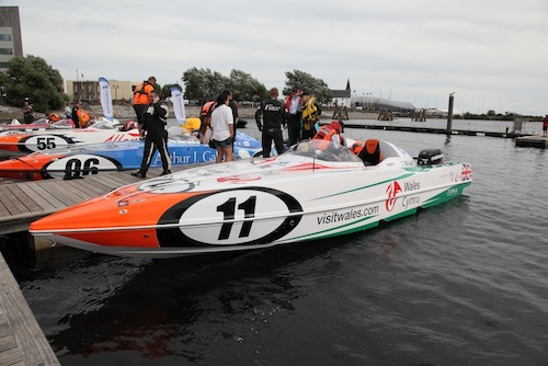 Powerboats P1 Cardiff Bay David and Kirsty Toozs-Hobson
