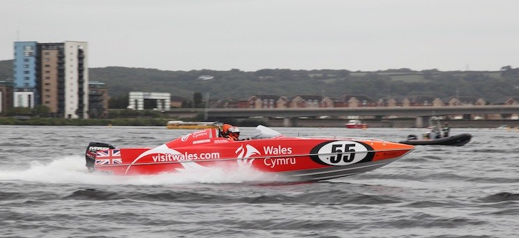 Visit Wales P1 Powerboat Cardiff Bay