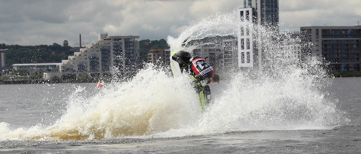Jet Ski Freestyle Displays Cardiff Bay 2015
