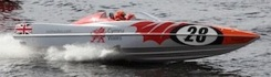 2016 Powerboat P1 Visit Wales racing in Cardiff Bay
